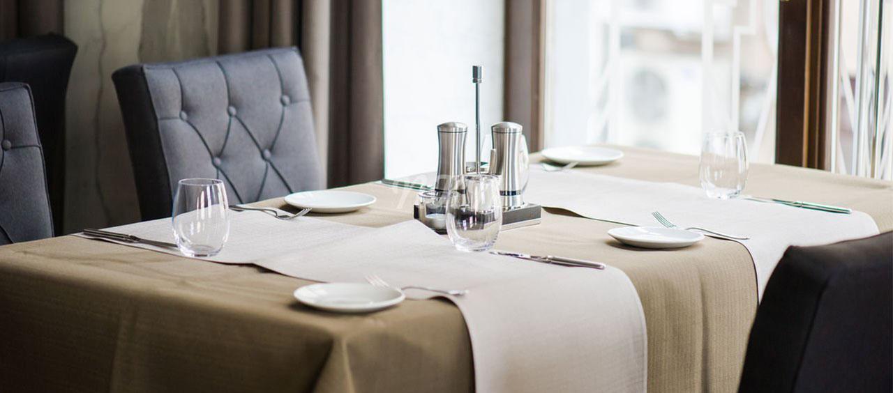 фото интерьера ткани флок в кафе, ресторан, отель HoReCa