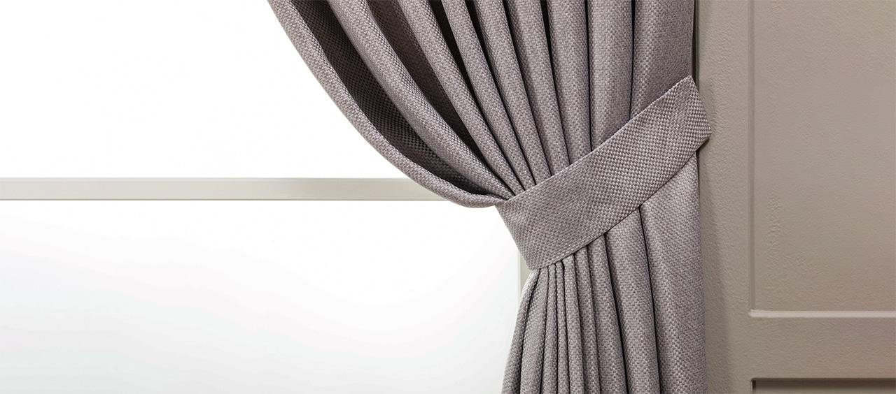 фото шторы из ткани рогожка