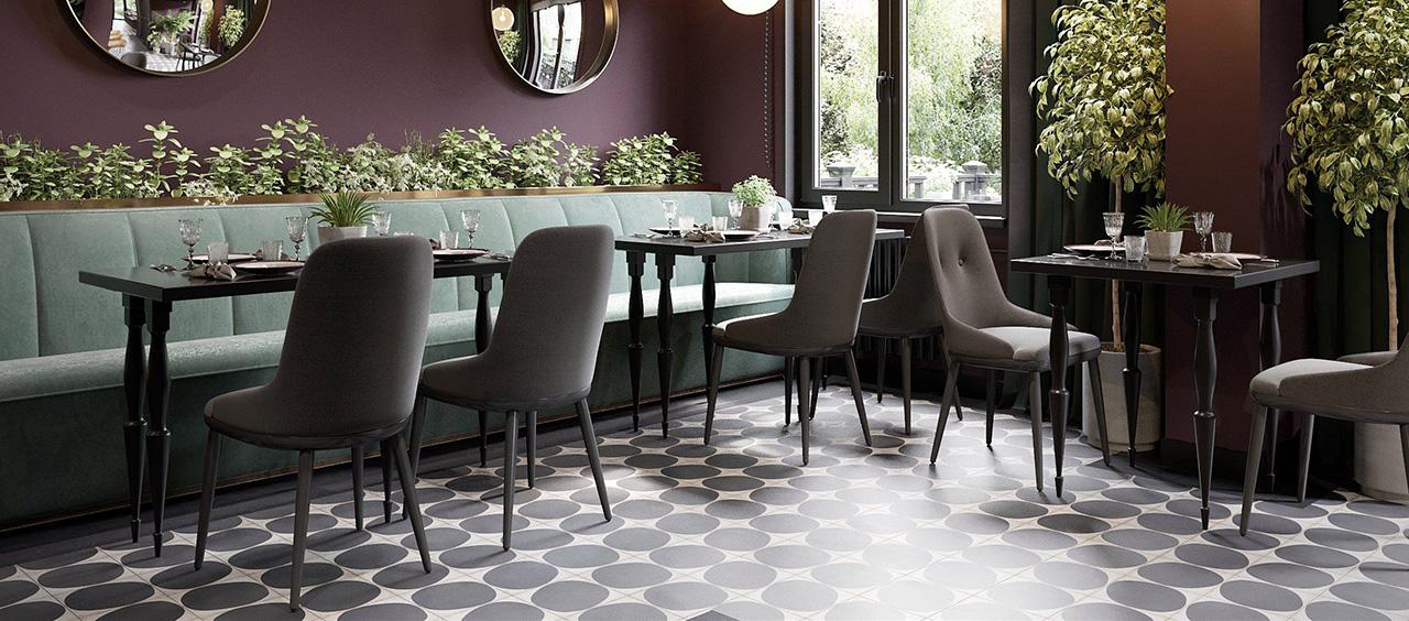 фото интерьера ткани искусственная замши в кафе, ресторан, отель HoReCa